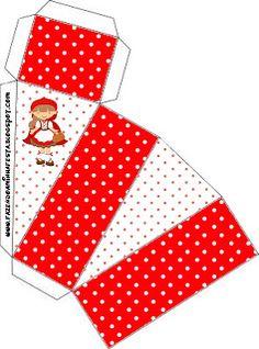 Little Red Riding Hood - kit complet avec des cadres pour des invitations, des étiquettes pour des collations, des souvenirs et des photos! - Faire Notre Parti