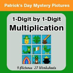 St Patrick's Day: Absolute Value: Multiplication & Division - Mystery Pictures Multiplication And Division, Multiplication Facts, Least Common Multiple, Math Coloring Worksheets, Simplifying Fractions, Time To The Hour, Mystery, Algebraic Expressions, Pythagorean Theorem