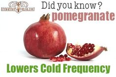 Pomegranate lowers cold frequency