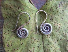 Silver earrings. Pendientes de plata. Joyería de plata. Pendientes étnicos. Joyería étnica.
