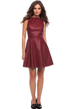 I really want this dress: Faux Leather Mini Dress - Dresses - Womens - Armani Exchange