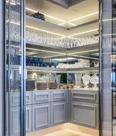 Kitchen Butlers Pantry, Pantry Room, Kitchen Pantry Design, Luxury Kitchen Design, Diy Kitchen Storage, Dream Home Design, Home Decor Kitchen, Interior Design Kitchen, Kitchen Furniture