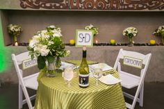 Green winery wedding |  See more of this Modern Grey, Green & White Winery wedding at http://www.weddings.banquetevent.com/blog/real-wedding-grey-white-green.html | Taylor'd Events Group | Amelia Soper Photography | Novelty Hill-Januik Winery #winerywedding