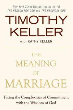 an extradordinary (gospel-centric) book on marriage that is insightful, understanding and profound. should be a required reading for all Christians (whether married or dating or single).