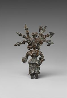 Copper statue of an Indian goddess with weapons in her hair Indian, Pataliputra (North India), 2nd - 1st century BC. Source: Metropolitan Museum