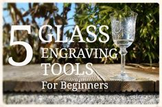 ***5 GLASS ENGRAVING TOOLS FOR BEGINNERS*** This comprehensive article tells you the 5 essential tools to start glass engraving using the drill technique. With a Dremel drill and a few bit and burrs you can start creating some beautiful engravings. All you need to know about which tools to buy and what each of them does. Diamond burrs, Polishers, White Arkansas Stones, Green Stones and all the helpful info you need to begin this wonderful craft.