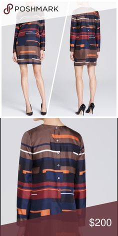 Theory Cepeda Geo-Print Silk Dress Brand new dress! Beautiful dress. Perfect for any occasion, especially with fall around the corner Theory Dresses