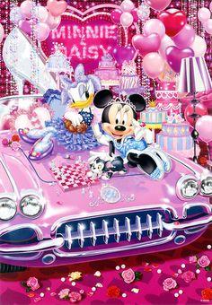 Minnie mouse and daisy duck disney fanatic, disney love, walt disney, retro disney Cars Cartoon Disney, Retro Disney, Disney Cartoons, Disney Micky Maus, Disney Mouse, Mickey Mouse And Friends, Walt Disney, Disney Art, Disney Food