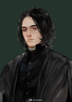 Severus Snape Fanart by on Weibo Arte Do Harry Potter, Harry Potter Severus Snape, Severus Rogue, Harry Potter Anime, Harry Potter Facts, Harry Potter Fan Art, Harry Potter Universal, Harry Potter Fandom, Harry Potter Hogwarts