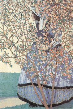 Among Flowers, Géza Faragó.Hungarian, (1877-1928)