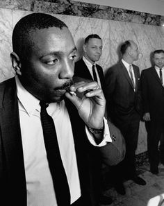 Dick Gregory  b. 1932 Stand-up comedian; civil rights activist  Left: circa 1964