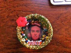 Frida Kahlo Magnet Shrine-Recycled Bottle Cap