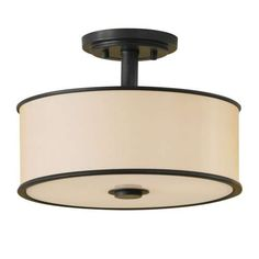 Casual Luxury Semi Flush Ceiling Light