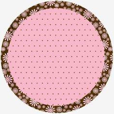 Marrón y Rosa: Etiquetas para Candy Bar para Imprimir Gratis.
