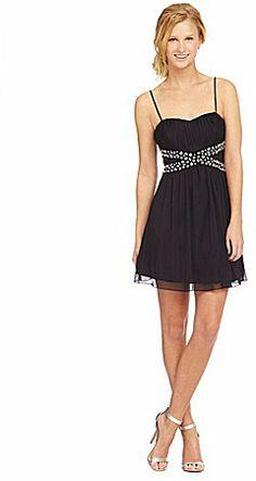 Teeze Me Spaghetti-Strap Beaded Dress on shopstyle.com