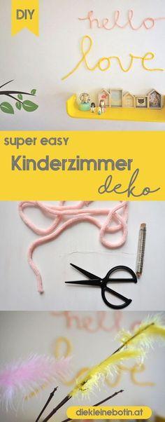 Mit dieser einfachen DIY-Idee kommt der Frühling ins Kinderzimmer! #kinderzimmer #wandgestaltung #diy #bilder #deko