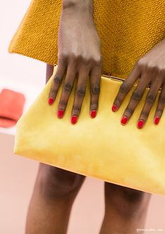 Red on yellow #fashion #inspiration