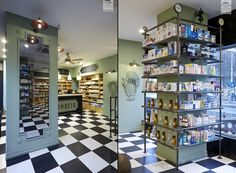 This project focuses on the metamorphosis of an image, that of the modern, everyday drugstore, into a new, friendlier and warmer environment.