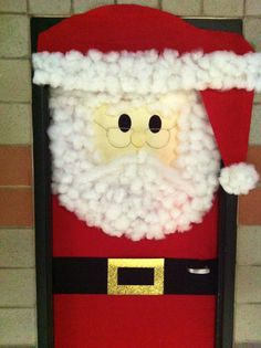 """I did this for my office's Christmas party """"Best Door Decor"""" contest.  It was fun and so easy to do and it looks so much better in person"""