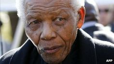 Nelson Mandela.  94-years old.  His health has been a concern in recent months. (Apr 2013)