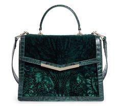 BRAHMIN HANDBAG Ivy Cellini Gabriella BAG Embossed Velvet Top Handle Satchel NEW #Brahmin #Satchel