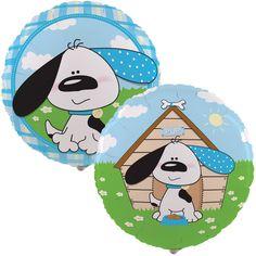 Playful Puppy Blue Foil Balloon