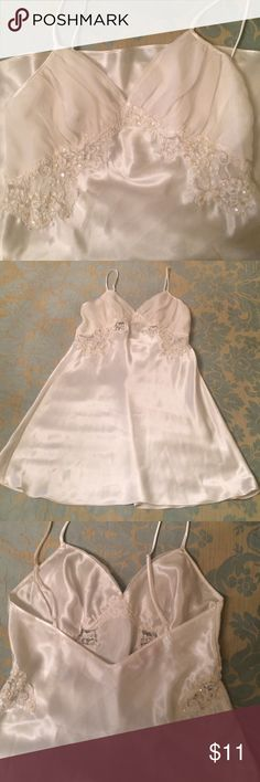 Victoria's Secret chemise. Sz L. Victoria's Secret chemise. Sz L. EUC. Beautiful sequin detail. Adjustable straps. Classy/sexy. Smoke/pet free home. Victoria's Secret Intimates & Sleepwear Chemises & Slips