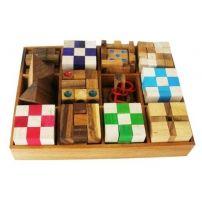 Łamigłówki drewniane – zestaw 12 elementów  #łamigłówka