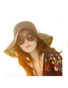 95ee124e9db Smartele New Arrival Fashion Ladies Woman Bohemia Summer Straw Sun Visor  Wide Large Brim Floppy Fold Summer Swimming Beach Straw Hat for Holiday  Traveling ...