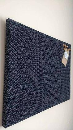 Large Bulletin Notice Board Navy Fabric Covered, Large Cork Office Board, 60 x x Burlap Bulletin Boards, Fabric Bulletin Board, Fabric Board, Cork Crafts, Diy Crafts To Sell, Diy Cork Board, Cork Boards, Pin Boards, Fabric Corkboard