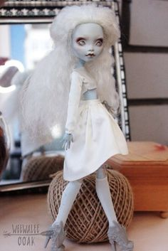 Ooak from Weewalee! Monster High Doll Lagoona Blue. White Lady! Wow! Gorgeous! #Mattel #Dolls