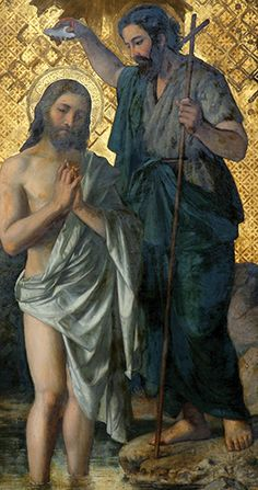 What Is the Meaning of Jesus' Baptism? God and Jesus Christ Jesus Our Savior, Jesus Art, God Jesus, Jesus Baptised, Spiritual Tattoo, Baptism Of Christ, Christian Artwork, Religion Catolica, Jesus Christus
