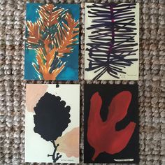 My four favorite paintings from Leanne Shapton's series Native Trees of Canada. Now available @longweekendstore in postcards. They just make me so happy and make me want to go out and paint! #leanneshapton by kikiwandering