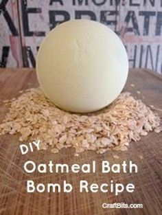 Make 7 medium sized bath bombs with this oatmeal based recipe.