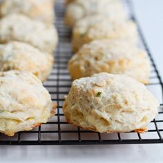 Creamy brie cheese stuffed inside tender homemade biscuits - the perfect addition to any meal!