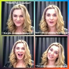 Loved how she just swiftly moved on to the next question after saying that ♀️ ║MarsellaLaura║