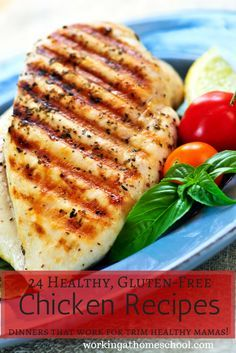 24 easy, gluten-free Trim Healthy Mama chicken recipes. Great meal ideas for a busy mom!