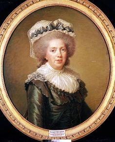 Madame Adelaide de France sixth legitimate child of Louis XV, 1791 ~ Elisabeth Louise Vigee-Lebrun Trieste, Oil On Canvas, Canvas Prints, Female Painters, French Royalty, Miniature Portraits, Miniature Paintings, 18th Century Costume, Elisabeth