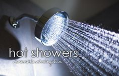 Hot showers are the best!!