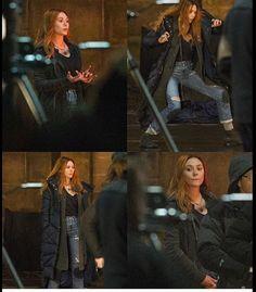 *New* Images of Elizabeth Olsen (Scarlet witch) on the set of Avengers: Infinity War.