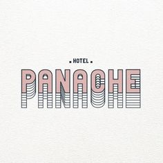 Hôtel Panache  Love this. Very Wes Anderson.  #handlettering #typography #wesanderson