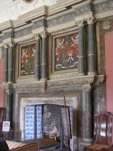 Canons Ashby (Northants): Elizabethan England wasn't plain manila | Visiting houses & gardens; The late 16th C fireplace in the upper saloon.