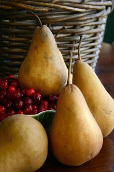 pear and cranberry composition...