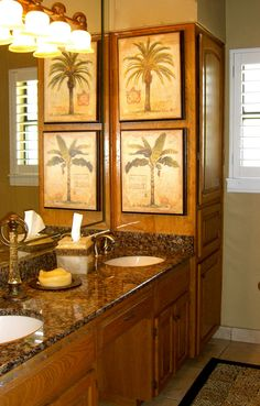 mt bathroom without the palm tree pictures perfect layout gives plenty of - Palm Tree Decor