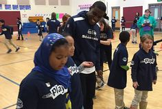 On the team's only day off during a work week, safety Dion Bailey paid a visit to Madrona K-8 in Seattle to share with the kids how his friendships have been key to his success in making it to the NFL.