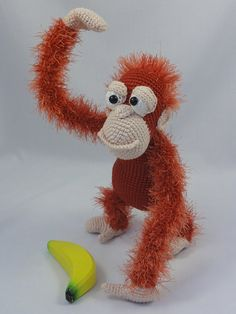This is a crochet pattern and not the toy.  Following this pattern Oscar the Orangutan will be approximately 27 cm tall. The pattern is available in