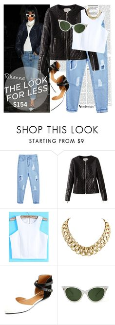 """"""":Celebrity Look For Less: Rihanna:"""" by janedoe333 ❤ liked on Polyvore featuring Charlotte Russe"""