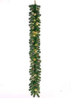 Christmas Dream Girlande 180 cm lang grün/gold