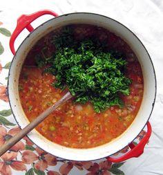 Red Lentil Mexican Soup - I love soup.