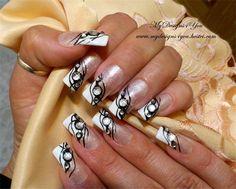 Black Tie Event French, Nails,  by MyDesigns4you - Nail Art Gallery nailartgallery.nailsmag.com by Nails Magazine www.nailsmag.com #nailart